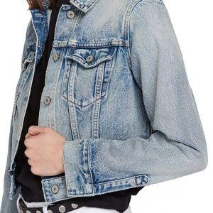 ALLSAINTS'Hay' Crop Denim Jacket